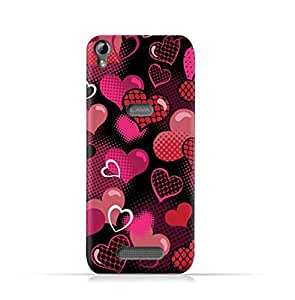 AMC Design Lava Iris Fuel 60 TPU Silicone Protective case with Valentine Hearts Seamless Pattern Design