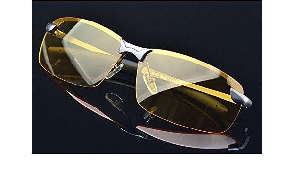 e4c2edff570 HD Night Vision Polarized Glasses Driving Aviator Sunglasses New UV400  Eyewear by Glasses KING - - Amazon.com