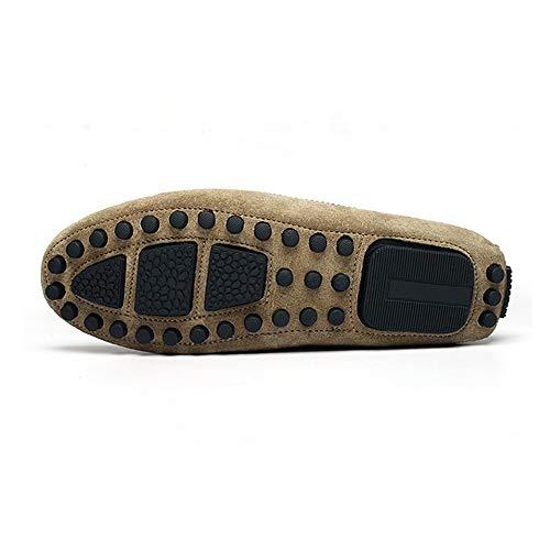Zapatos Bullock De Genuino Borlas Barco Cuero Negro Mocasines Zapatillas Con Gommino Gamuza Hombre v0xHqdtH