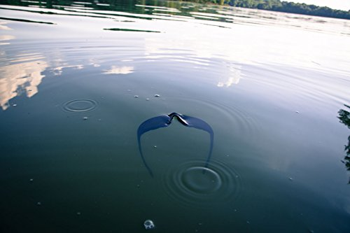 92a25c8dca5 WYND Blocker Polarized Motorcycle   Fishing Floating Sports Wrap Sunglasses  (Black   PZ Smoke Lens