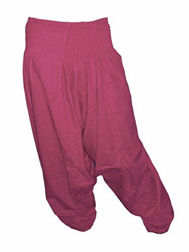 Sarouel–Pantalones Hombre Mujer 100% algodón Varios colores disponibles ciruela