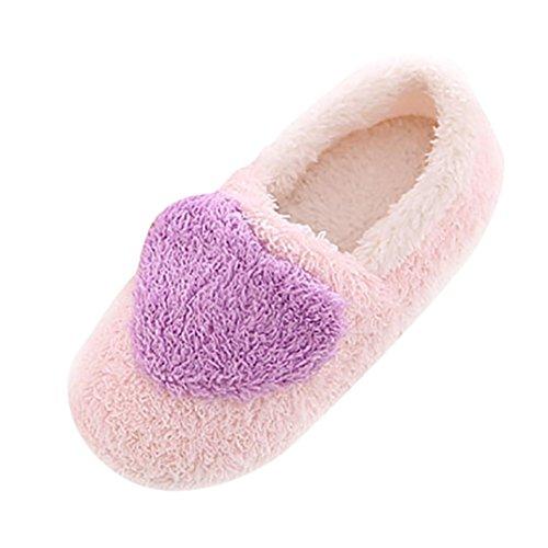 Peluche Chaussons Violet Dérapant Chaussons d'intérieur femmes Coton Chaussons Coloré Femmes Anti TM Pantoufles Zn17x