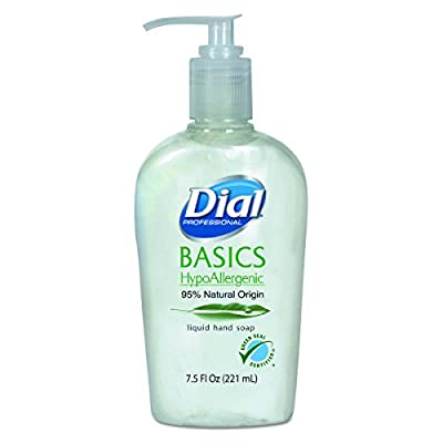 Dial Professional 06028CT Basics Liquid Hand Soap, 7.5 oz, Rosemary & Mint (Case of 12)