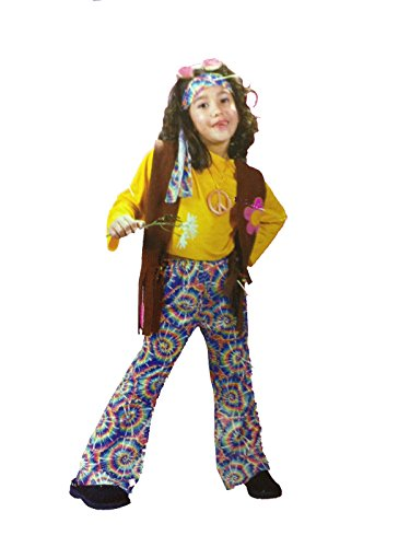Hippie Chick Childs Costume (Large (12-14)) (Hippie Chick Halloween Costume)