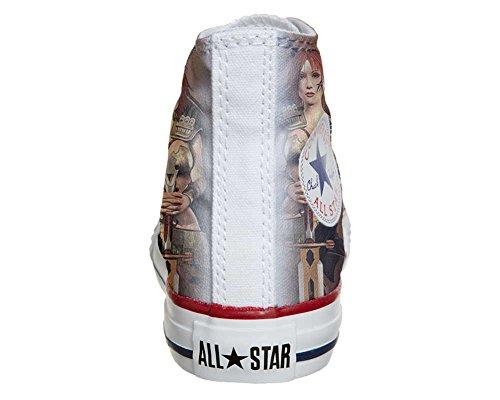 CONVERSE Personalizzate All Star Sneaker unisex (Scarpa artigianale) Warrior Girl