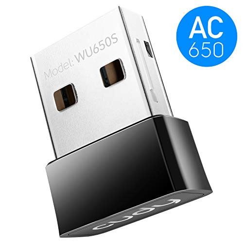 Cudy 650Mbps Nano Size USB WiFi Adapter, Dual Band 5GHz/2.4GHz Wireless Adapter, for PC/Desktop/Laptop -CD Included, Nano Size, Compatible with Windows XP/7/8/8.1/10 (Best Usb 5ghz Wifi Adapter)