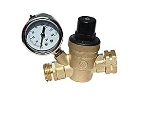 rv water pressure regulator brass lead free adjustable includes water pressure reducer inlet. Black Bedroom Furniture Sets. Home Design Ideas