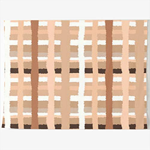 (Armko Tapestry, 80 x 60 Inches Cell Striped Checked Pattern Crossing Horizontal Shred Wall Hanging Tapestries Decor Home Bedroom Living Kids Girls Boys Room Dorm)