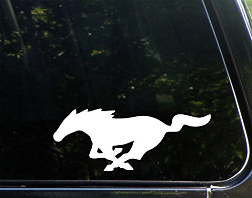 "Mustang - 9"" x 3-1/2"" - Vinyl Die Cut Decal/ Bumper Sticker For Windows, Cars, Trucks, Laptops, Etc."