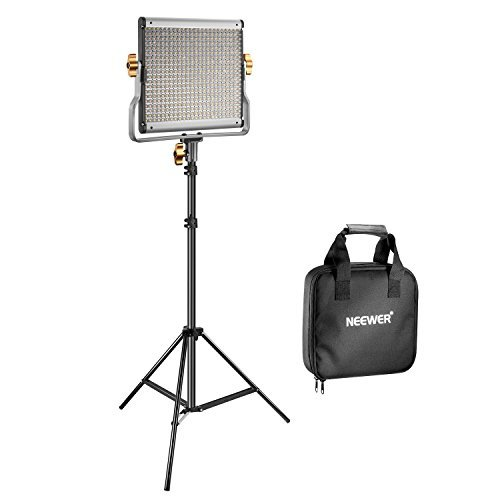 Neewer 480 LED Video Light and Stand Lighting Kit - Dimmable Bi-color LED Panel with U Bracket (3200-5600K,CRI 96+) and 75-inch Light Stand for Photo Studio Portrait,YouTube Video Photography by Neewer