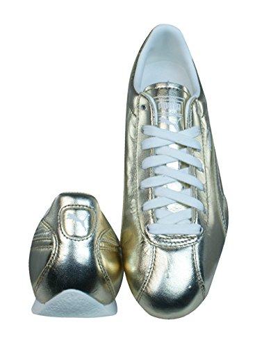 Puma Barnett Vintage Met Zapatillas de cuero de la Mujer - Oro Gold