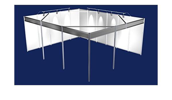Feria de pie de 5 x 6 meter soporte Corner con sistema de construcción stand modular sistema messebau: Amazon.es: Hogar
