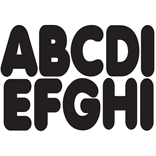 Ashley Productions Magnetic Uppercase Letters (57 Piece), Black, 2 3/4'' by Ashley Productions