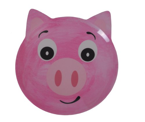 Epicurean Europe 25 x 21.5 x 1.7cm Melamine Friendly Faces Pig Design Plate, -
