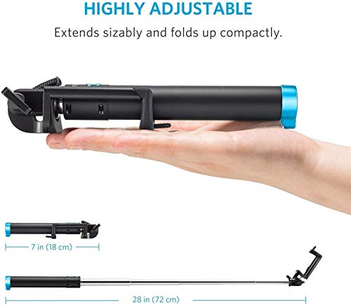 Best online products™ Pocket Sized Selfie Stick for iPhone and Android and All Smartphones (Color- Blue)