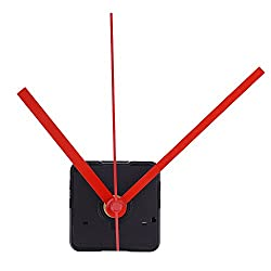 Mudder Silence Quartz Clock Movement, 11/ 25 Inch Maximum Dial Thickness, 4/ 5 Inch Total Shaft Length (Red)