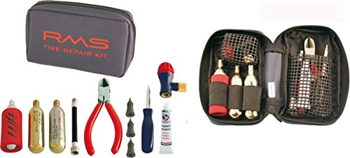 RMS Kit gonfiaggio e riparazione tubeless in borsa Rms Kit inflating, and repair tubeless, in Rms bag 267020110
