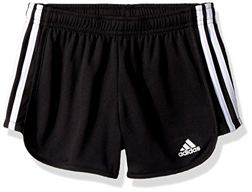 adidas Big Girls' Athletic Shorts, Black Adi, Medium by adidas (Image #1)