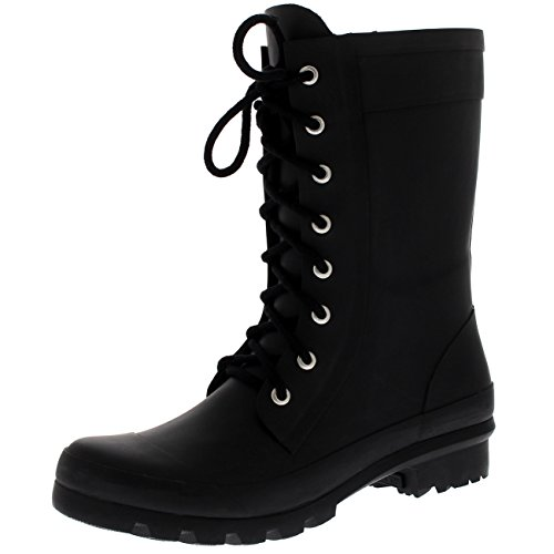 Polar Products Womens Tall Combat Wellington Winter Waterproof Snow Rain Military Boots