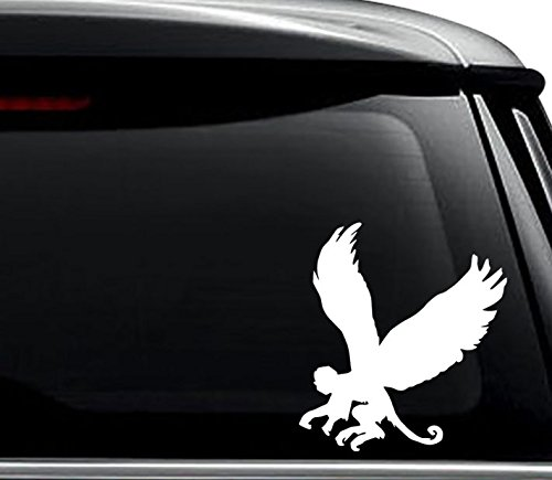 Flying Monkey Animal Decal Sticker For Use On Laptop, Helmet, Car, Truck, Motorcycle, Windows, Bumper, Wall, and Decor Size- [8 inch] / [20 cm] Tall / Color- Gloss White