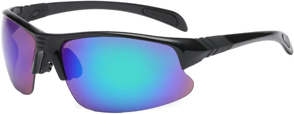 Baorio Gafas para Deportes al Aire Libre Gafas de Sol polarizadas Unisex Gafas extragrandes y ultraligeras con Protector para la Nariz El Mejor Equipo para en Bicicleta Al Aire Libre Azul Negro