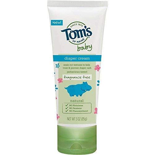 (Tom's of Maine Fragrance Free Baby Diaper Cream, 3 oz)