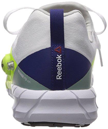 Reebok Womens Zpump Fusion 2.0 Maglia Scarpa Da Corsa Bianco / Solare Giallo / Inverno Salvia / Notte Faro / Acciaio