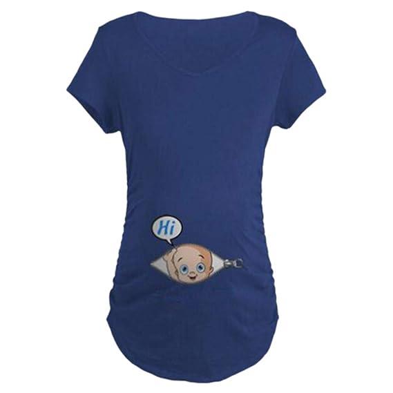 Lactancia de Maternidad para Mujeres,ZARLLE Ropa premamá Divertida y Adorable,Camiseta con Estampado,Regalo Durante el Embarazo,Manga Corta: Amazon.es: Ropa ...
