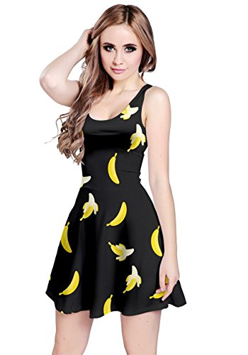 Price comparison product image CowCow Womens Dark Banana Sleeveless Dress, Dark - M