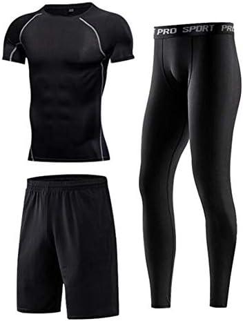 ファッション スポーツスーツ、メンズ、タイトフィット速乾服、長袖、ジャケットフィットネス服、ランニングジムトレーニング服6点セット エレガント