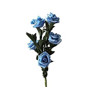shengyuze PE Artificial Fake Flowers, 1Pc Artificial Flower Rose Garden Bridal Wedding Party Decor Photography Props 32