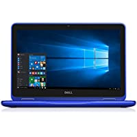 2017 Dell 2-in-1 Convertible Inspiron 11.6 inch HD LED Touchscreen Laptop Tablet Intel Dual Core m3 6Y30 4GB RAM 250GB SSD USB 3.0 HDMI Bluetooth 4.0 WiFi Webcam MaxxAudio Card Reader Windows10 (Blue)
