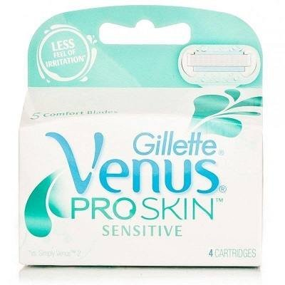 Gilletté Venus ProSkin Sensitive Womens Razor Refill Cartridges 4 Count Pro Skin