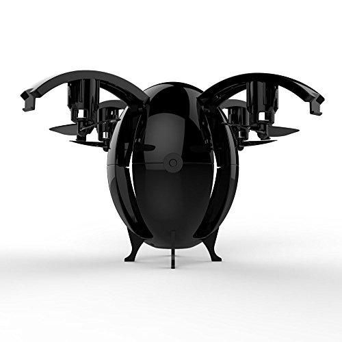 WARMSHOP 2.4G WIFI 0.3MP Camera MINI Pocket Foldable Drone 6 Axis Gyro RC Ball Quadcopter (Black) by WARMSHOP