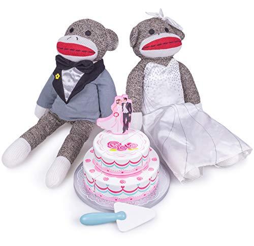 Sock Monkey Family Wedding Bundle | Includes Two-tiered