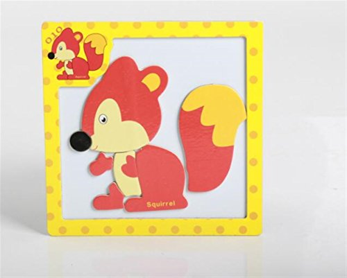 Sevenpring Child Learning Puzzle Wooden Magnetic Peg Puzzle Safe Education Learning Toy Fantastic Gifts for Kids(Squirrel) ()