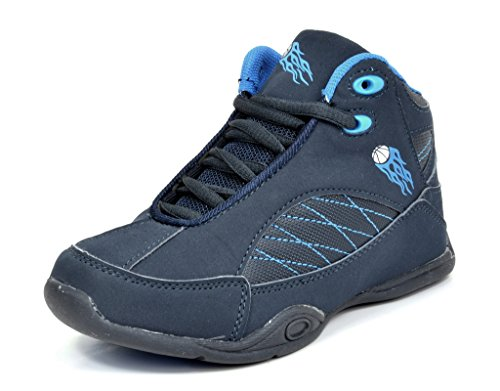 Dream Pairs American Kids 2938-K Boy's Athletic Lace Up High Top Sneakers Running/Basketball Shoes (Toddler/Little Kid/Big Kid) NAVY/BLUE (Youth High Top)
