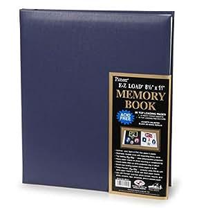 """Pioneer E-Z Load 8.5"""" X 11"""" Memory Book, Blue"""