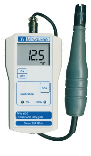 Milwaukee MW600 LED Economy Portable Dissolved Oxygen Meter with 2 Point Manual...