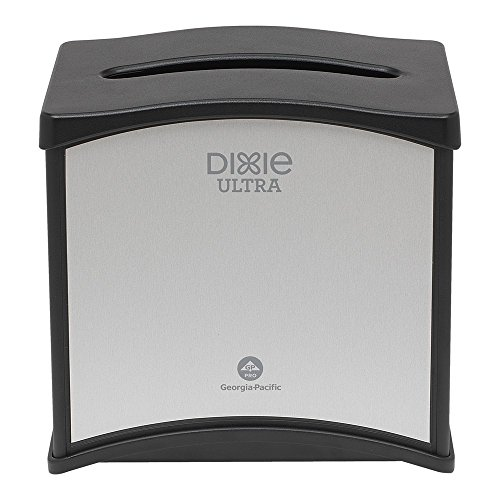 Dixie Ultra 54528 STNLS Finish Tabletop Interfold NPKN DSPN, Stainless (Pack of 6) by Dixie Ultra
