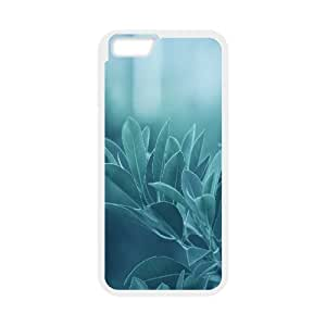 Blue Leaves IPhone 6 Plus Cases, Iphone 6plus Case Cute Luxury Cathyathome - White