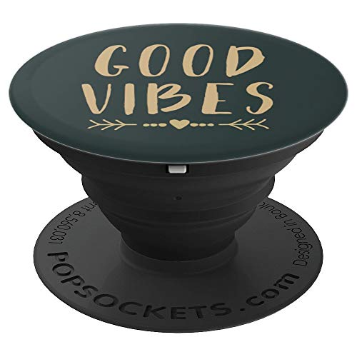 Good Vibes - Good Vibes Inspirational Design Good Vibes Only PopSockets Grip and Stand for Phones and Tablets