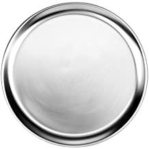 New Star Foodservice 50769 Pizza Pan/Tray, Wide Rim, Aluminum, 16 Inch