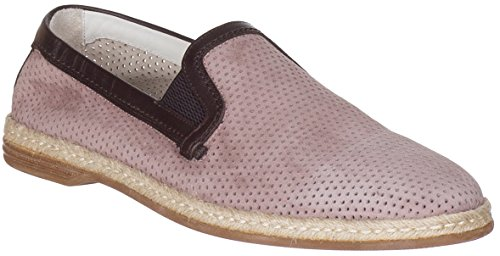 Dolce & Gabbana Men's Suede Perforated Loafers Slip On Flats Shoes, Beige, US 8 / IT 7 / EU 41