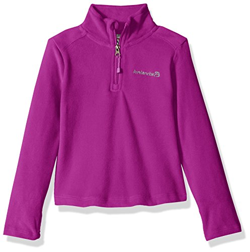 Avalanche Big Girls' Quarter Zip Fleece Pullover Top, Pixie Purple, 14/16