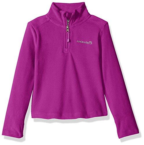 Avalanche Big Girls' Quarter Zip Fleece Pullover Top, Pixie Purple, 14/16