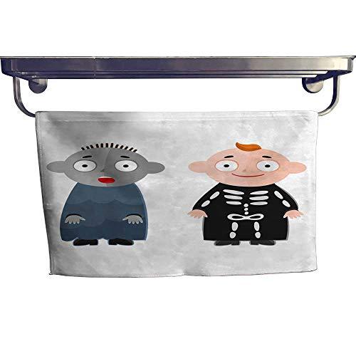 (warmfamily Sports Ttowel Vector Illustration of Cute Kids Wearing Halloween Costumes Towel W 12