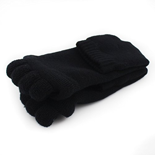 Moxeay Yoga Massage Toe Separator Socks(Black)