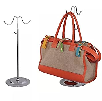 Amazon Com Metal Handbag Rack Women Bag Display Stand Double Hook
