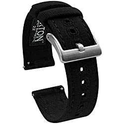 Image of the product 22mm Black   Barton that is listed on the catalogue brand of BARTON WATCH BANDS.